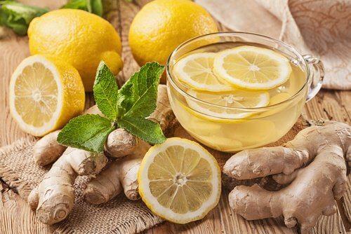 2 ginger tea with lemon